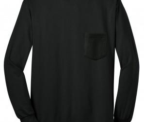 03260d7bf66 Gildan – Ultra Cotton™ 100% Cotton Long Sleeve T-Shirt with Pocket. 2410.  2410 Black Flat Front 071312