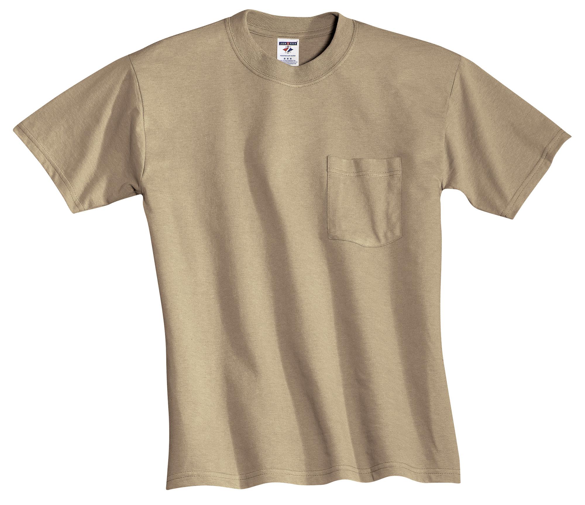 41e340039a5 JERZEES® – Heavyweight Blend 50 50 Cotton Poly Pocket T-Shirt. 29MP ...
