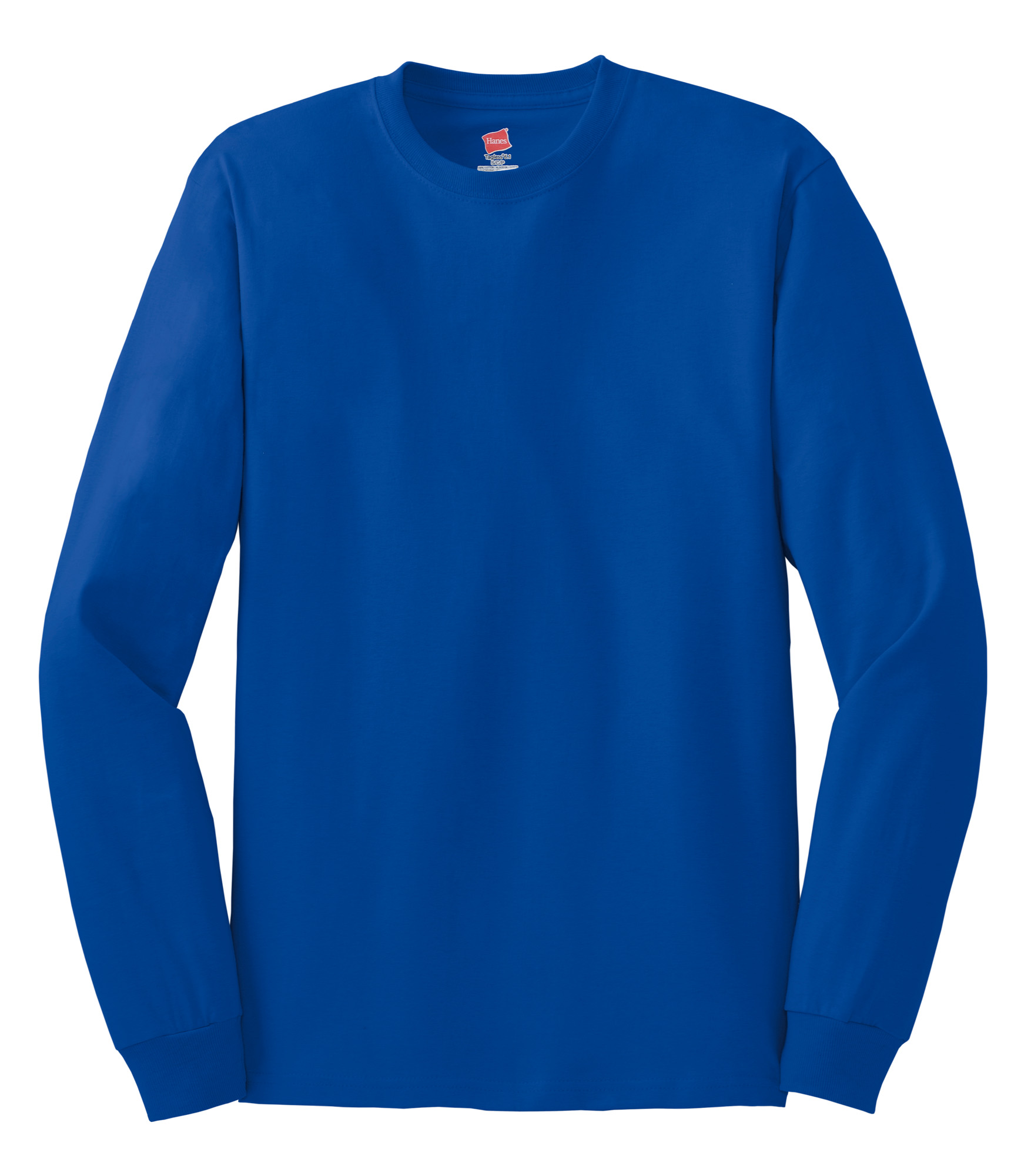 Hanes Youth Tagless 100 Cotton Long Sleeve T Shirt Male