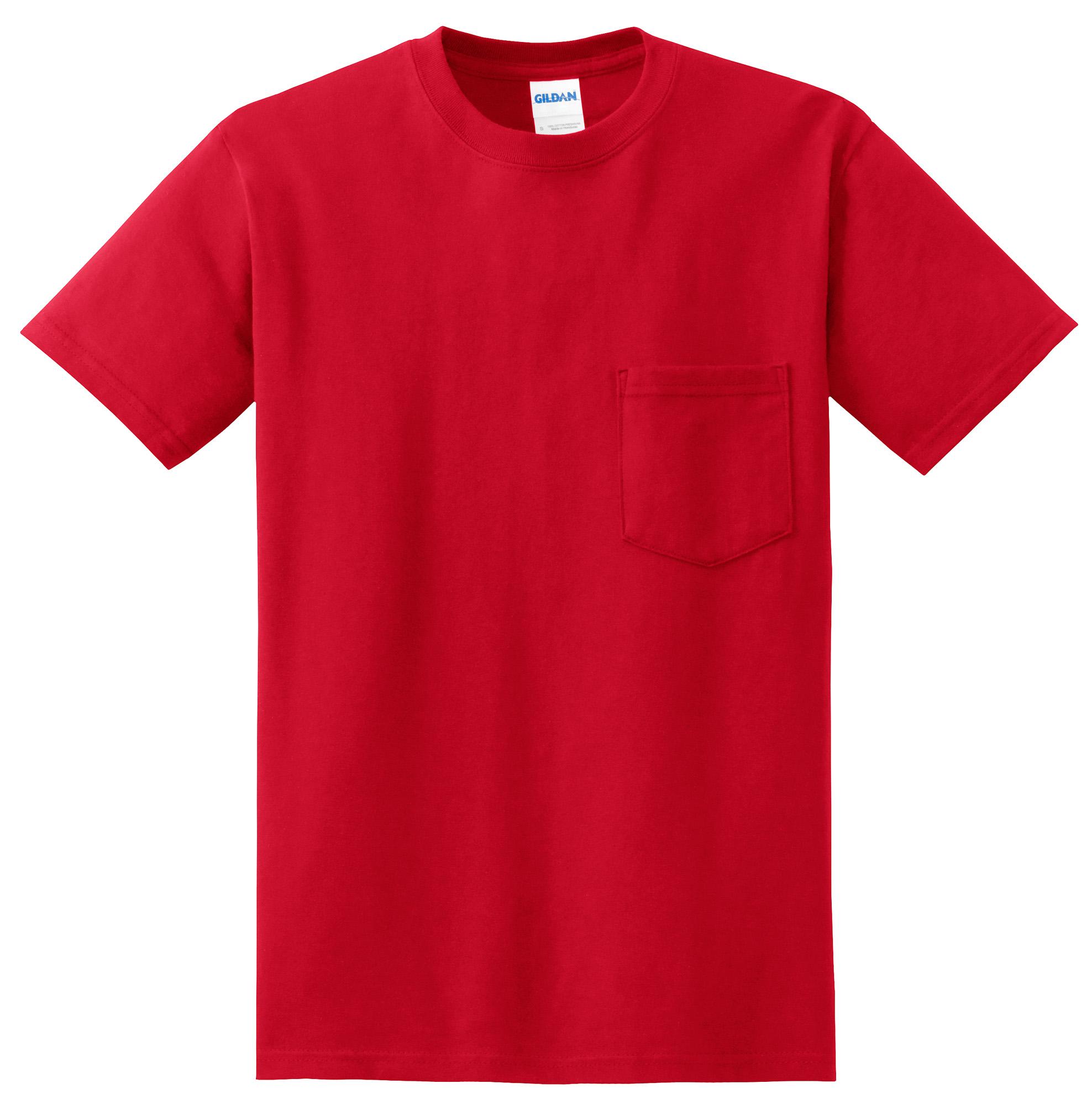 Gildan dryblend 50 cotton 50 dryblend poly pocket t shirt