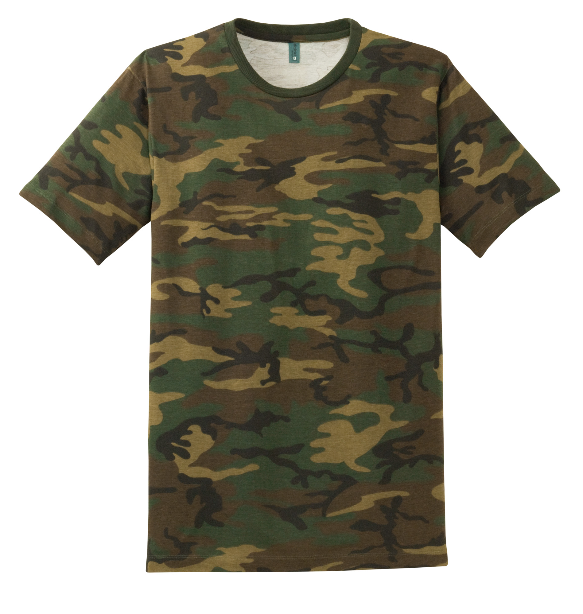 district made mens perfect weight camo crew tee dt104c