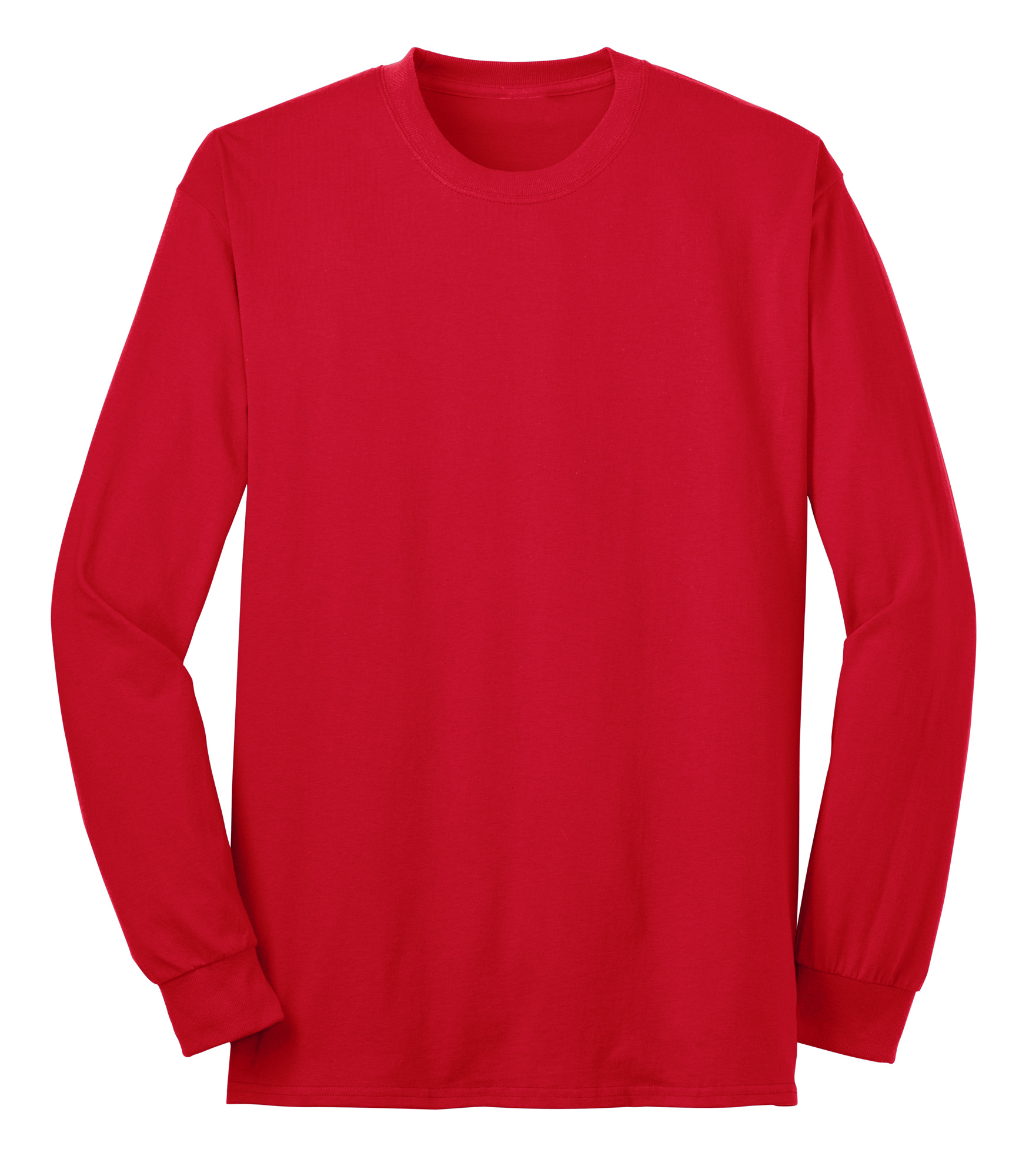 Port company long sleeve 50 50 cotton poly t shirt for The red t shirt company