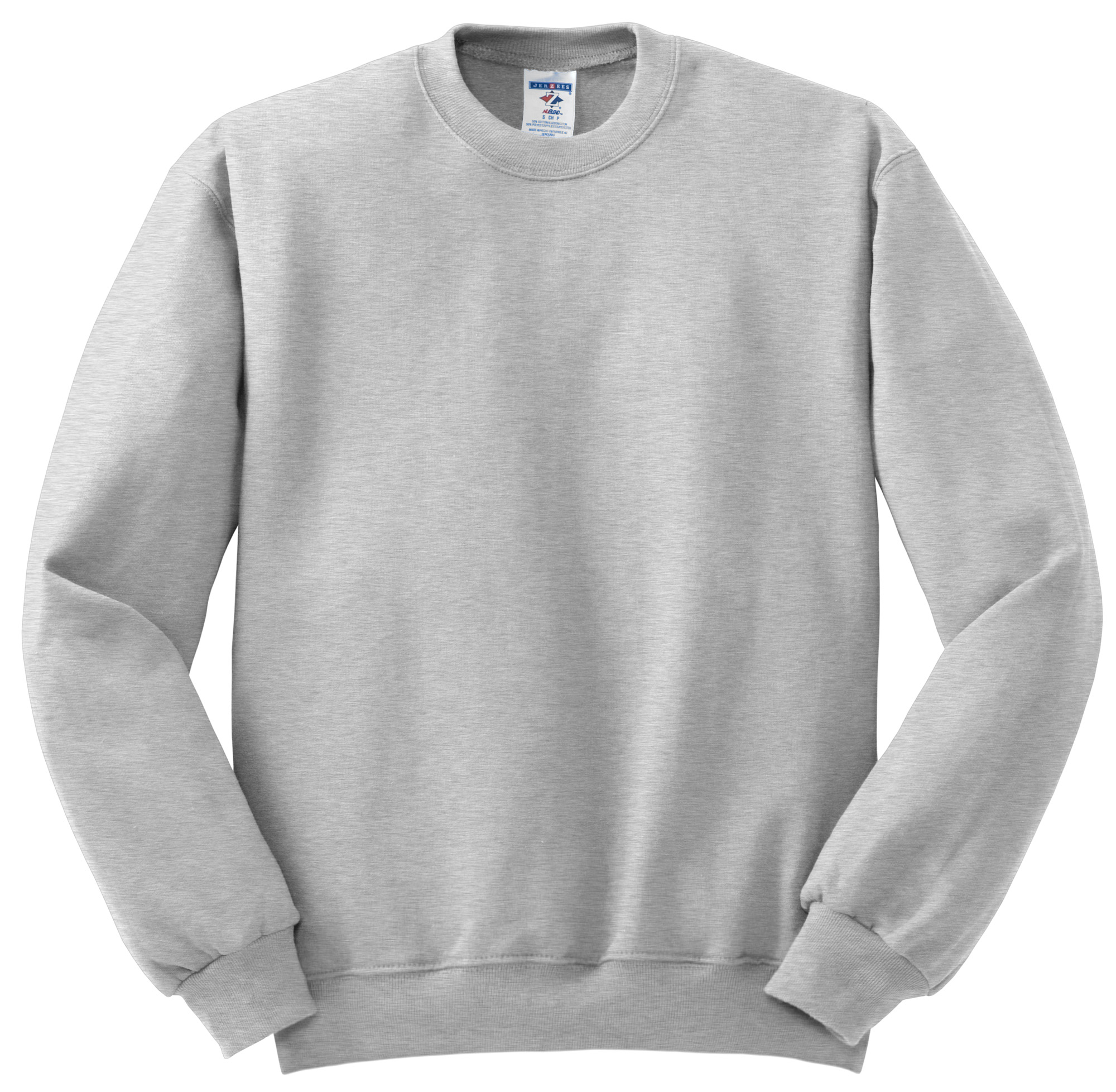 A crew neck (or crew-neck) is a type of shirt or sweater that has a round neckline and no collar, often worn with other layers. The T-shirt crew neck was developed in as an undergarment that would absorb sweat and prevent shoulder pads of American football players from causing chafing.